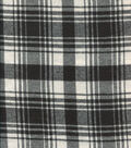 Flannel Shirting Cotton Black White