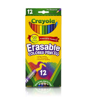 Crayola Erasable Colored Pencils-12/Pkg Long, , hi-res