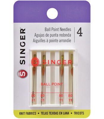 Singer Ball Point Machine Needles 4/Pk-Size 11/80