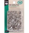 Dritz® Safety Pins-Brass&Steel 100/Pkg