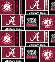 "University of Alabama Crimson Tide Cotton Fabric 44""-Herringbone, , hi-res"