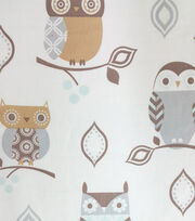 Magic Moon™-Night Owl Branches Cotton Fabric  , , hi-res