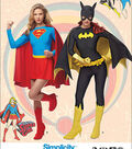 Simplicity Patterns 1036-Misses\u0027 Supergirl and Batgirl Costumes