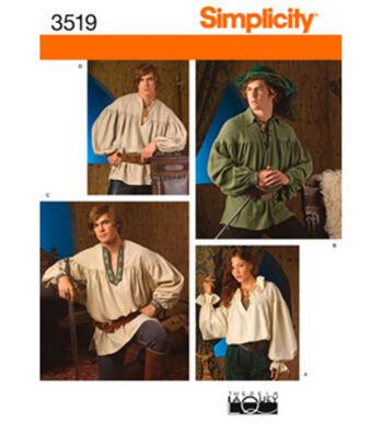 Simplicity Pattern 3519A Adult Costumes-Size XS S M L XL