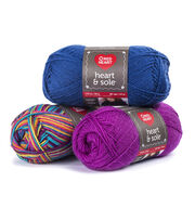 Faded Jean-yarn Heart & Sole, , hi-res