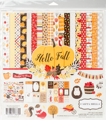 "Carta Bella Collection Kit 12""X12""-Hello Fall"