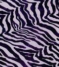 Foiled Zebra Tulle Mystic Purple