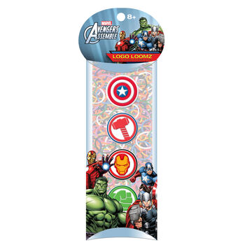 Forever Collectibles Logo Loomz Charm Pack Marvel Comics™ Avengers