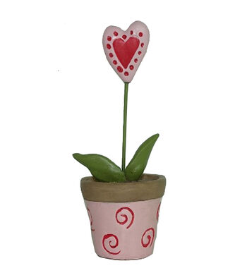 Valentine's Day Littles Resin Valentine Pot with Heart Plant