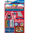 Jet Setters Dimensional Stickers-Missouri