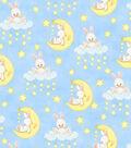 Nursery Flannel Fabric 44\u0022-Bunnies In Sky