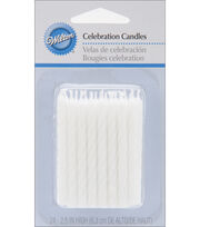 Wilton® 24pk Bday Candles White, , hi-res