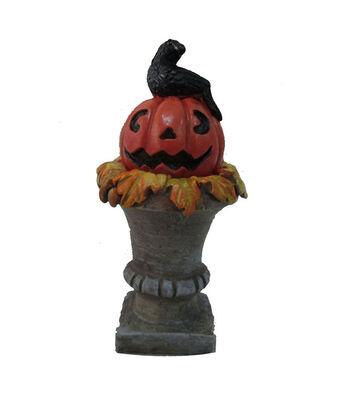 Maker's Halloween Littles Pumpkin on Pedestal