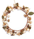 Blooming Holiday Berry & Pinecone & Pear Mini Wreath-Gold