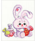 RIOLIS Counted Cross Stitch Kit 5\u0022X6.25\u0022-Bunny With A Candy