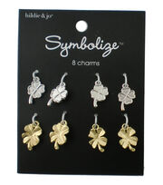 hildie & jo Symbolize 8 Pack Clover Silver & Gold Charms, , hi-res