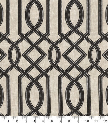 Waverly® Upholstery Fabric 54''-Onyx Cutout Embroidery
