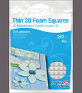 White Asst-thin 3d Foam Squares