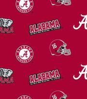 "University of Alabama Crimson Tide Fleece Fabric 58""-All Over, , hi-res"