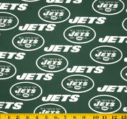 "New York Jets Cotton Fabric 58""-Green, , hi-res"