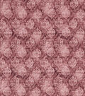 Vintage Cotton Fabric 43\u0027\u0027-Red Distressed Damask