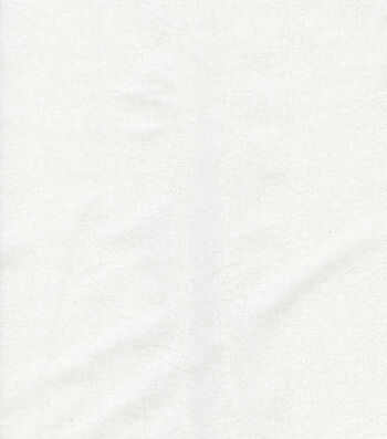 Keepsake Calico™ Cotton Fabric 45''-White Paisley