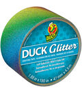 ShurTech 1.88\u0022x15yds Glitter With Sparkle Duck Tape-Rainbow Ombre