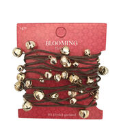 Blooming Holiday Christmas 9' Bell Roping Garland-Champagne, , hi-res