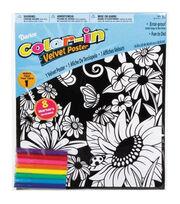 """Color-In Velvet Poster 16""""X20""""-Flower Garden, , hi-res"""