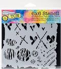 Crafter\u0027s Workshop Marlene Template 6\u0027\u0027x6\u0027\u0027-Graffiti Kisses