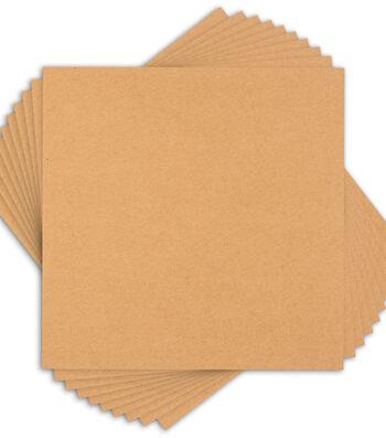 "Core'dinations 80lb Smooth Cardstock 12""X12"" 10/Pkg-Kraft"