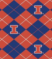 "University of Illinois Fighting Illini Fleece Fabric 58""-Argyle, , hi-res"