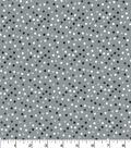 Quilter\u0027s Showcase Cotton Fabric 44\u0027\u0027-Black, White & Gray Scattered Dots
