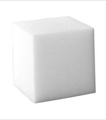 8X8X8In Styrofoam Cube White