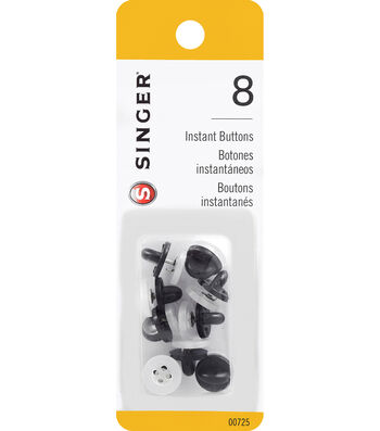 Singer® No-Sew Instant Button Replacements 8 ct