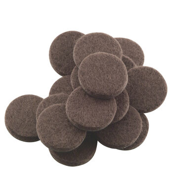 "Felt Furniture Pads 1"" 48 Count-Brown"