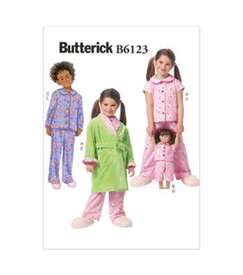 Butterick Pattern B6123 Children's Sleep & Lounge-Size 2-3-4-5
