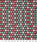 Christmas Cotton Fabric 43\u0022-Snowflake Hexagons