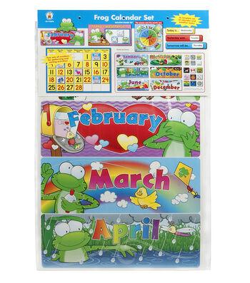 Carson Dellosa Frog Calendar Bulletin Board Set