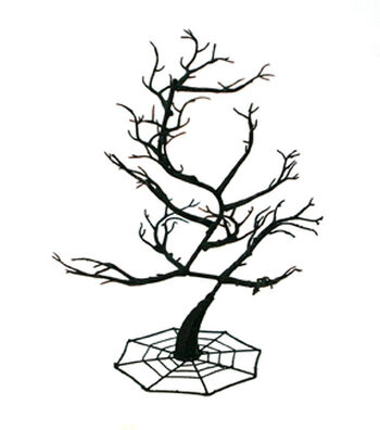 Maker's Halloween 14'' Spooky Spiral Tree-Black