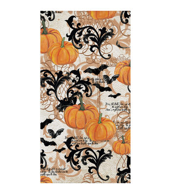 Maker's Halloween 16 Pack Paper Napkins-Pumpkins & Bats