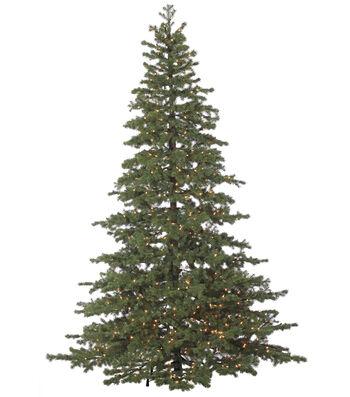 Bloom Room 8' Flat Pine Pre-Lit Christmas Tree