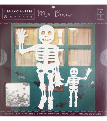 "Lia Griffith Crafts 12""x12"" Stack-Mr. Bones"