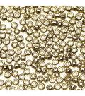 Glass Seed Beads-Metallic Gold Transparent, 10/0, 7 grams