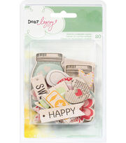 Dear Lizzy Neapolitan Chipboard Shapes 20/Pkg-, , hi-res