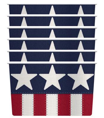 Americana Patriotic 6 pk Dessert Cups-Stars & Stripes