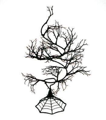Maker's Halloween 24'' Spooky Spiral Tree-Black