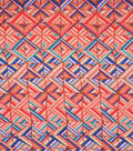 Fashion Knits - Geo Squares Multi Rayon Spandex Jersey