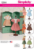Simplicity Pattern 1244OS One Size -Doll Clothes