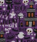 Halloween Cotton Fabric 43\u0022-Haunted House